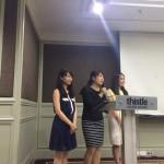 5回JB招待3名学生の交流会での司会